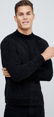 Chenile Turtle Neck Jumper