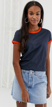 Claudia T Shirt With Contrast Rib