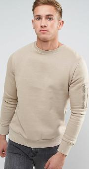 crew neck military sweat