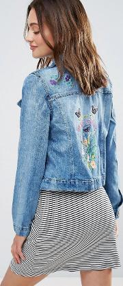 embroidered festival denim jacket