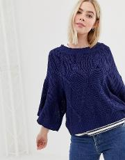 Freestyle Cable Knit Jumper