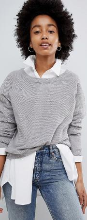 grunge round neck jumper