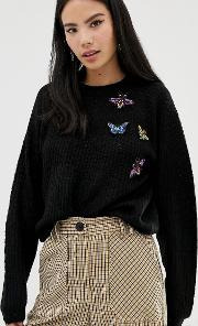 Jumper With Applique Detail