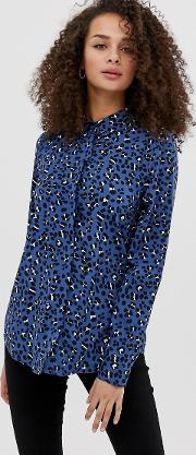 Leopard Print Long Sleeved Shirt