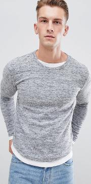 long sleeve double layer top