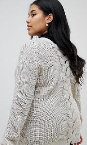 Bamboo Cardigan With Lace Back Detail