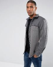 Quilted Panel Shacket