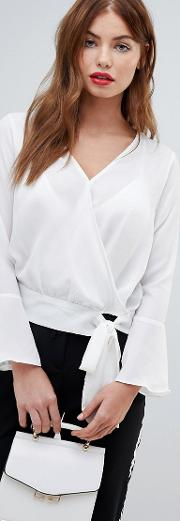 Sweet Wrap Front Blouse