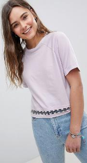 t shirt with ring detail at hem