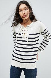 Agatha Lace Up Jumper