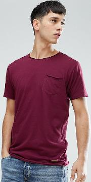 tall basic raw edge  shirt