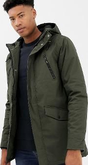 Tall Hooded Bonded Parka