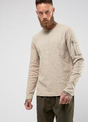waffle long sleeve with military arm pocket