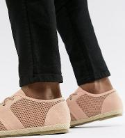 wide fit lace up espadrilles in pink