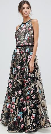 agata embroidered gown
