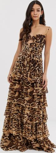 Bronx & Banco Amazon Animal Maxi Dress