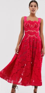 Bronx & Banco Britney Lace Midi Dress