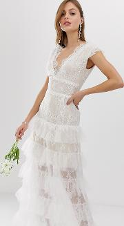 Bronx & Banco Exclusive Tiered Bridal Gown