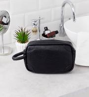 Faux Leather Wash Bag