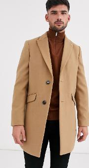 Faux Wool Overcoat
