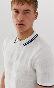 Knitted Polo With Stripes