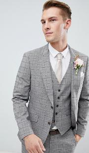 wedding suit jacket  grey red check