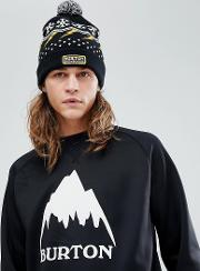 Gramercy Beanie Logo Bobble In Black