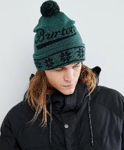 gramercy beanie logo bobble in green