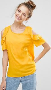 b.young ruffle sleeve top