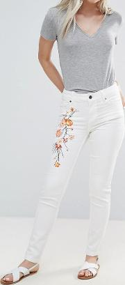 b.young skinny jean with embroidered detail