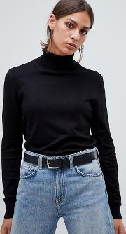 Classic High Neck Sweatshirt