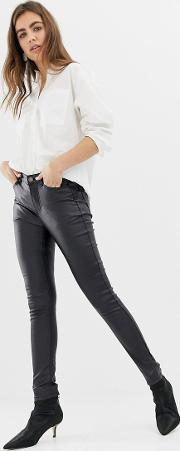 Super Shiney Coated Jeans