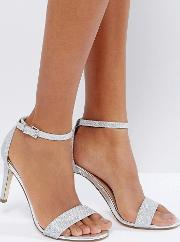 ahlberg silver barely there heeled sandals