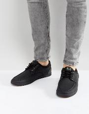 fabiano boat shoes in black