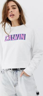 Retro Logo Cropped Sweatshirt