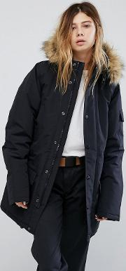 Anchorage Parka Jacket With Faux Fur Trimmed Hood