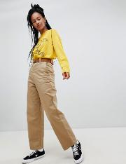 High Waist Relaxed Chinos