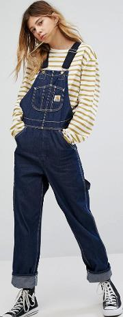 Oversized Dungarees In Denim With Contrast Straps