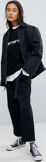 Relaxed Chinos With Wide Cropped Leg