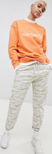 relaxed fit trousers in camo