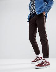 Sid Tapered Chinos  Brown