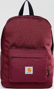 watch backpack in burgundy