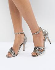 Barely There Jewelled Heeled Sandal