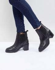 Stop Leather Studded Ankle Boots