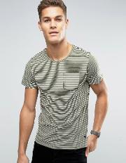 t shirt in stripe with pocket