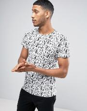 t shirt with scribble print