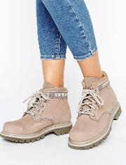 cat ridge lace up flat boot