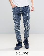 jeans with extreme rips in reg fit