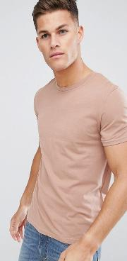 crew neck t shirt in pink