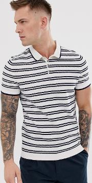 Knitted Polo With Stripe